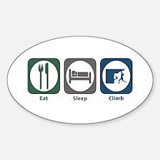 Eat Sleep Climb Oval Decal
