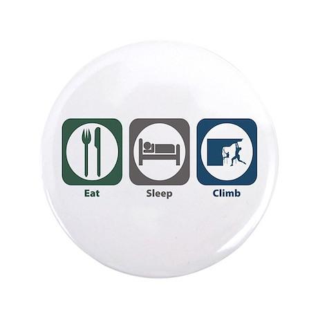 """Eat Sleep Climb 3.5"""" Button (100 pack)"""