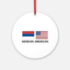 Serbian American Ornament (Round)
