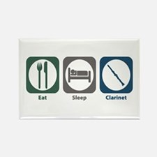 Eat Sleep Clarinet Rectangle Magnet