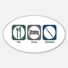 Eat Sleep Clarinet Oval Decal