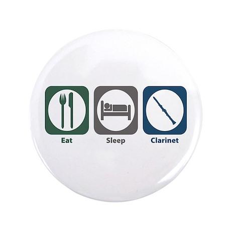 "Eat Sleep Clarinet 3.5"" Button (100 pack)"