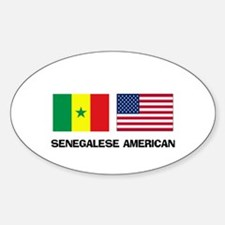 Senegalese American Oval Decal