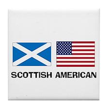 Scottish American Tile Coaster