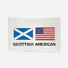 Scottish American Rectangle Magnet
