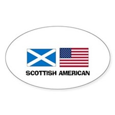 Scottish American Oval Decal