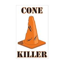 cone killer Rectangle Decal