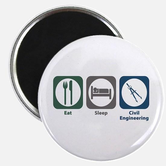 Eat Sleep Civil Engineering Magnet