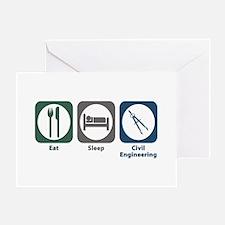 Eat Sleep Civil Engineering Greeting Card