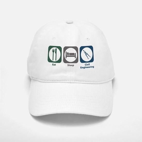 Eat Sleep Civil Engineering Baseball Baseball Cap
