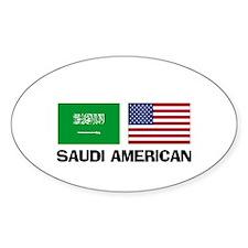 Saudi American Oval Decal