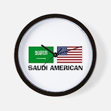 Saudi American Wall Clock