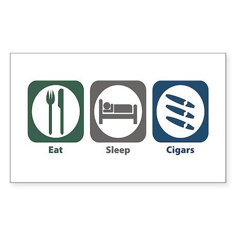 Eat Sleep Cigars Rectangle Sticker