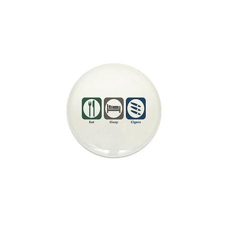 Eat Sleep Cigars Mini Button (100 pack)