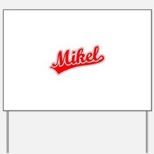 Retro Mikel (Red) Yard Sign