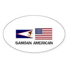 Samoan American Oval Decal