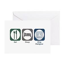 Eat Sleep Chip Designer Greeting Card
