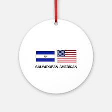 Salvadoran American Ornament (Round)
