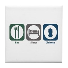 Eat Sleep Chinese Tile Coaster