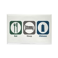 Eat Sleep Chinese Rectangle Magnet