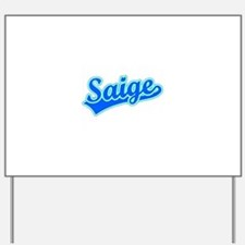 Retro Saige (Blue) Yard Sign