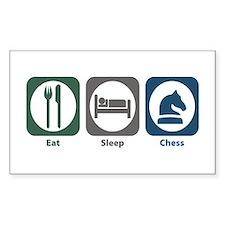 Eat Sleep Chess Rectangle Decal