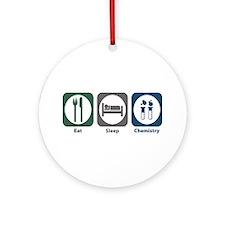 Eat Sleep Chemistry Ornament (Round)