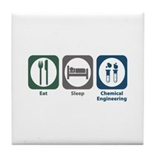 Eat Sleep Chemical Engineering Tile Coaster
