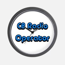 CB Radio Operator Wall Clock