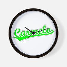 Retro Carmelo (Green) Wall Clock
