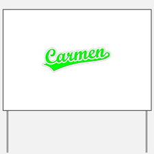 Retro Carmen (Green) Yard Sign