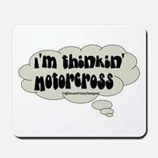 thinkn' motorcross Mousepad