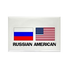 Russian American Rectangle Magnet
