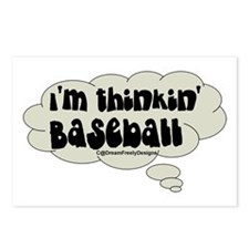 thinkin' baseball Postcards (Package of 8)