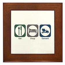 Eat Sleep Cement Framed Tile