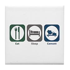 Eat Sleep Cement Tile Coaster