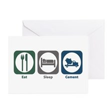 Eat Sleep Cement Greeting Cards (Pk of 20)