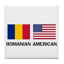 Romanian American Tile Coaster