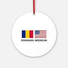 Romanian American Ornament (Round)