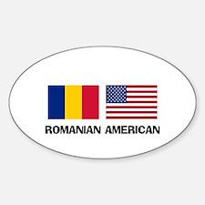Romanian American Oval Decal