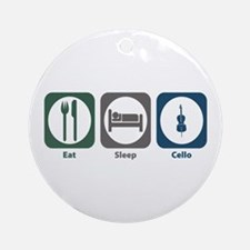 Eat Sleep Cello Ornament (Round)