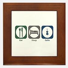 Eat Sleep Cello Framed Tile