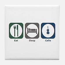 Eat Sleep Cello Tile Coaster