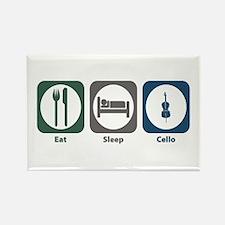 Eat Sleep Cello Rectangle Magnet