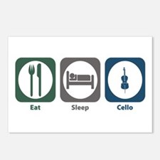 Eat Sleep Cello Postcards (Package of 8)