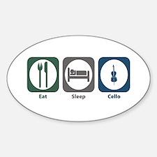 Eat Sleep Cello Oval Decal