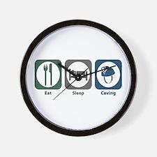 Eat Sleep Caving Wall Clock
