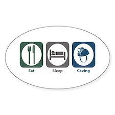 Eat Sleep Caving Oval Decal
