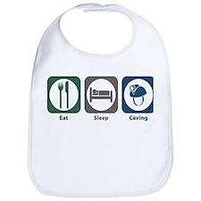 Eat Sleep Caving Bib