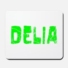 Delia Faded (Green) Mousepad